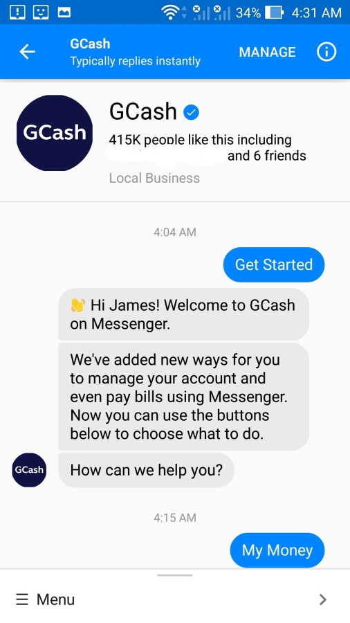 GCash brings payment transactions to Facebook Messenger
