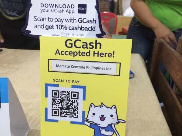 GCash rolls out QR mobile payments service in Mercato Centrale