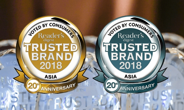 Gratisverlosung Readers Digest 2018: Reader's Digest Asia Announces The Most Trusted Brands In