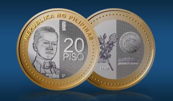 PH Central Bank launches the 20-peso coin
