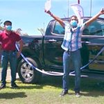 Farmer from Central Luzon wins new pickup truck as rice yield contest prize
